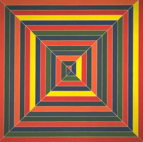 artmastered:  Frank Stella, Hyena Stomp, 1962, alkyd paint on canvas,195.6 x 195.6cm, Tate Collection. Source