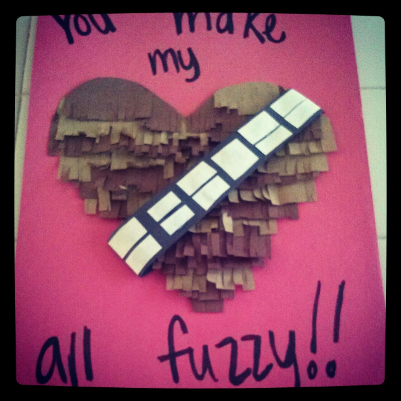The card I made for Josh. This looks prettier lol