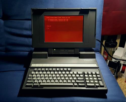 Toshiba T3200 retro computing dos gift from a customer