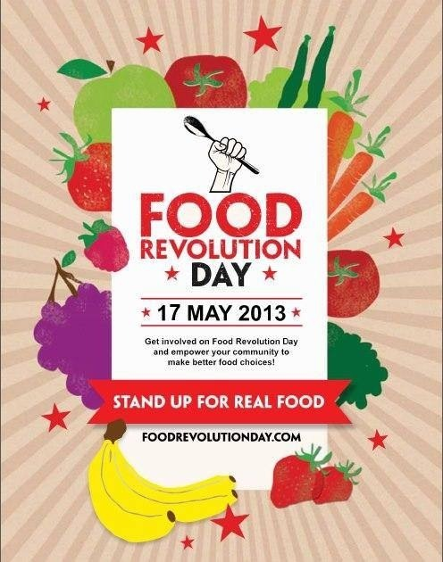 Food Revolution Day (I didn't know…I knew it was Bike to Work Day.)