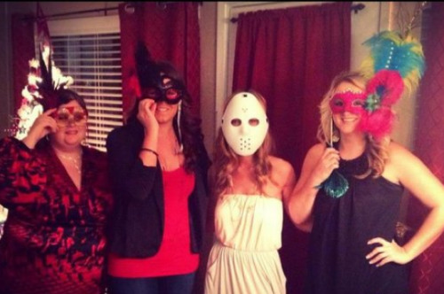 collegehumor:  Horror Movie Mask at a Masquerade Ball  She's so wrong, it's scary
