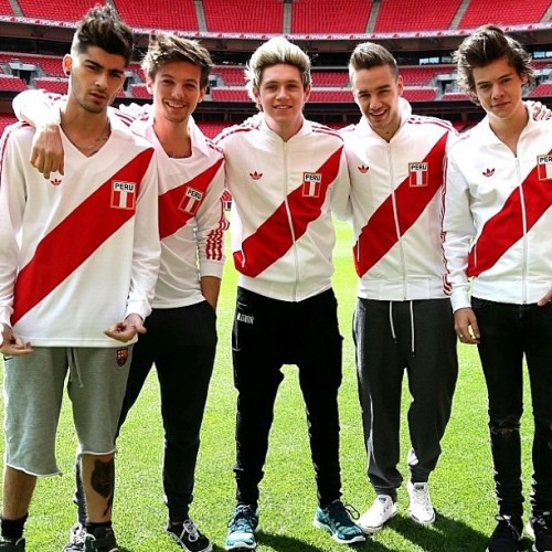The fact that the boys are wearing peruvian jerseys 😍👌 »»»»>