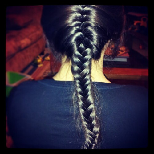 More professional hairstyling by Amber. #fishtail #braid #personalstylist