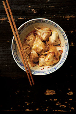 saveurmag:  Chao Shou (Sichuan Pork Wontons) The recipe for these tasty pork wontons is from noodle shop owner Ma Yingjun. See Matt Gross's article Flavors of Sichuan for information on hard-to-find ingredients.  Get the recipe: http://bit.ly/16bwIS4 Photo: Ariana Lindquist  \O/