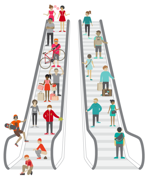 chirp: I designed and illustrated a piece on escalator etiquette for The Bold Italic. This is not the first time drawn poo for them, but it is the first time I've drawn boogers! (Also, see if you can spot the self-caricature I snuck in there.) (Editor's note: Helen is awesome at illustrator.)