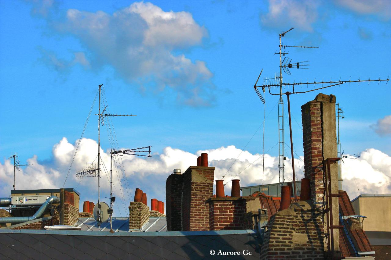 #289 - 07-05-2021 - Cheminées - Réflex Canon EOS 600 D© Aurore Gc #365#365project#365photoproject#365photochallenge#365photo#roof#rooftop#toit#toiture#toits#ville#city#cityphotography#lille#lillefrance#lillemaville#cheminée#chimney