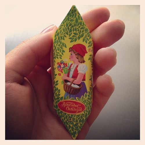 Long time ago.. #russiancandy #candy #chocolate #memories #fallow #home #Красный Октябрь #mmm #me #belgium #europe