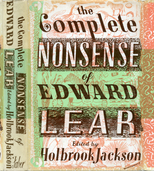 freakyfauna:  The Complete Nonsense of Edward Lear. Book cover design by Barnett Freedman from the collection of Piet Schreuders
