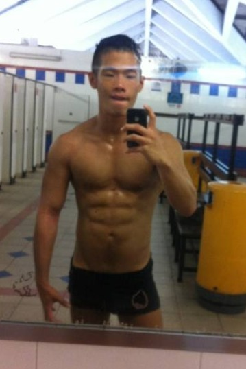 justshootit:  More of Roy Lim hotness… Can anyone identify which swimming pool is that? :P