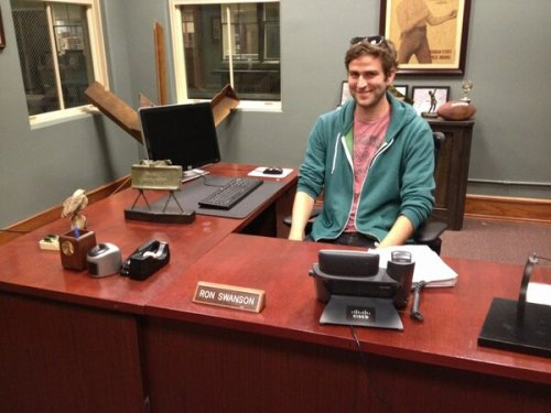 safeisrelative:  #Humphrey Ker #AT RON SWANSON'S DESK