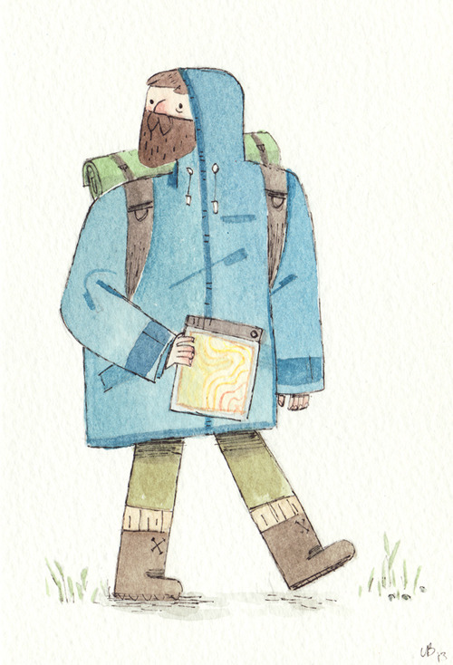 elbooga:  Strider as a modern day hiker.  This is lovely! But I think modern day Strider would be more of a fell runner than a hiker. :)