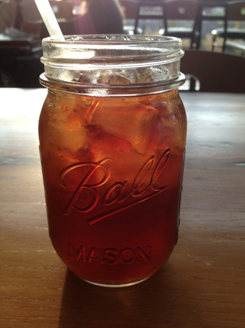 Nothing better than sweet tea on a Monday morning (:
