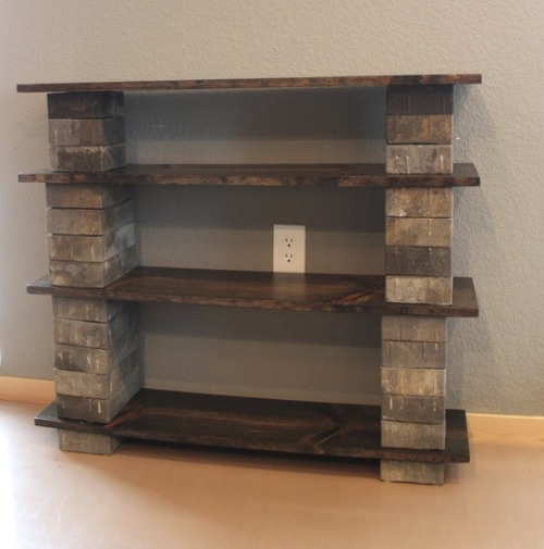 diyhomeimprove:  Rustic shelves! Love them! Found at: icouldsomakethat.com