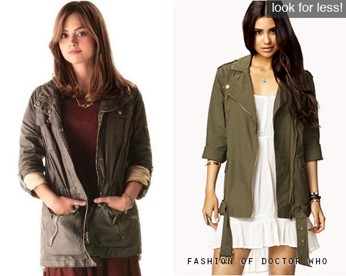 Look for Less! Clara Oswald - The Bells of Saint John Forever 21 Military-Inspired Utility Jacket, $40