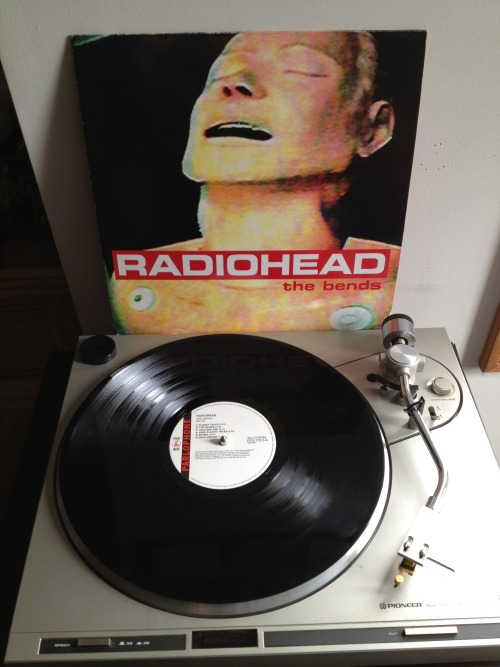 jocelynsrecordcollection:  Radiohead - The Bends Black LP, 1995 Parlophone (UK)