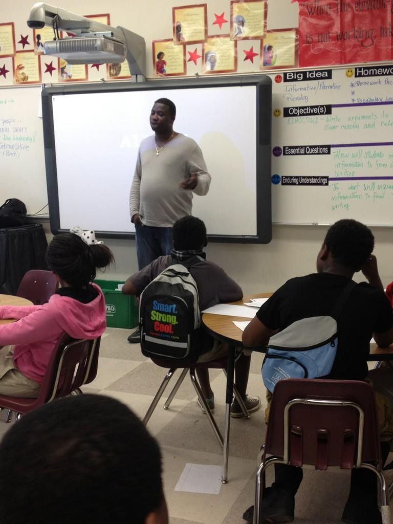 Trap God. Career Day. Crawford Long Middle School. Atlanta, GA.