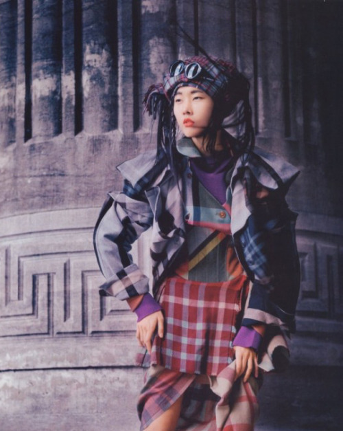 somethingvain:  han hye jin in memories of tartain by serge leblon for vogue china january 2006