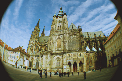 thelakeandthemountain:  Outside of South Tower of St. Vitus's CathedralPragueMarch 24, 2013