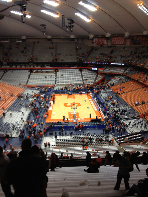 Syracuse fans leave the Dome pretty quickly when they lose.  (Photo via Dan F.)