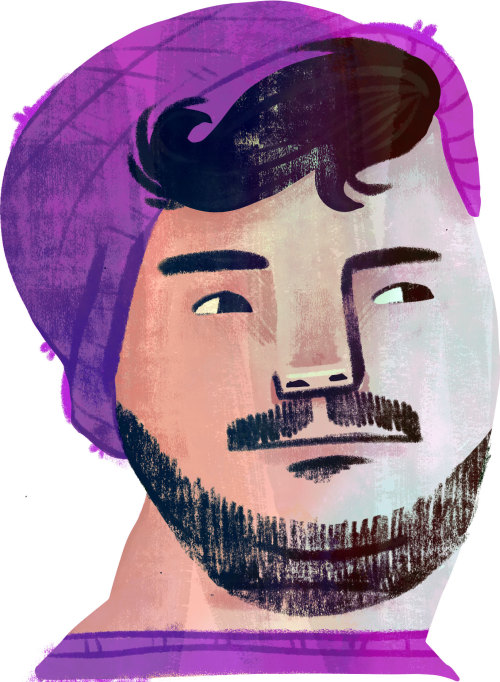 mariyapilipenko:  I promised my buddy Connor that I would illustrate the artists in his collective. I am the worst for taking my sweet ass time with getting them done and he is awesome for being tolerating that. I finally finished my first portrait.Naturally I started with Connor. Check out his beats here:https://soundcloud.com/droiddaughter More to come soon!