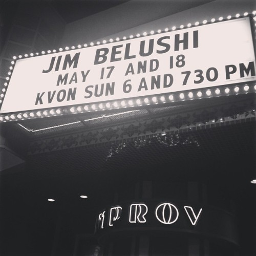 Opening for Jim Belushi & The Chicago Board of Comedy this weekend in Irvine. Lots o' peeps showed up; probably should've showered.