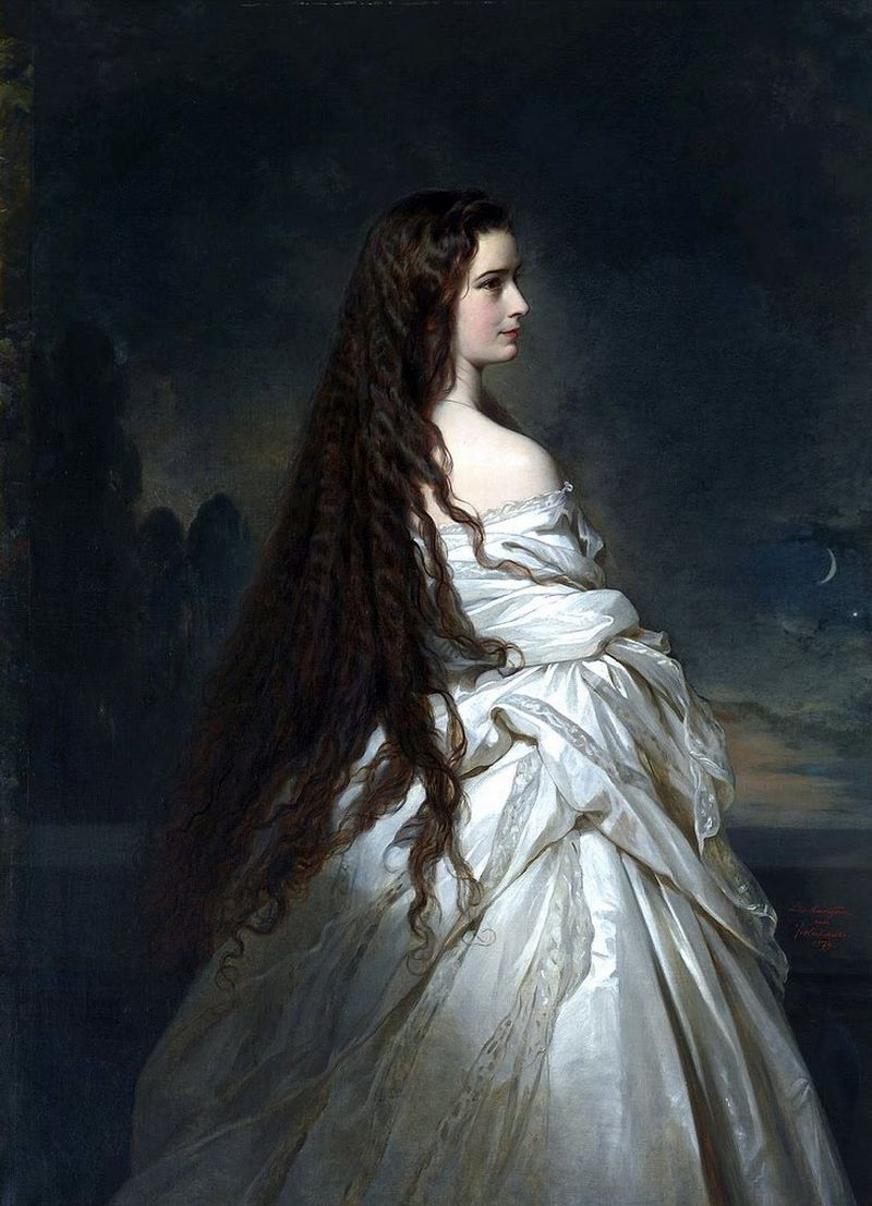 lyghtmylife:  Franz Xaver WINTERHALTER [German Academic Painter, 1805-ca.1873] Empress Elisabeth of Austria, 1865 oil on canvas