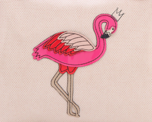 flohraly:  more here ✿  l-umina:  Flamingo by elaine-femme-fatale featuring tory burch
