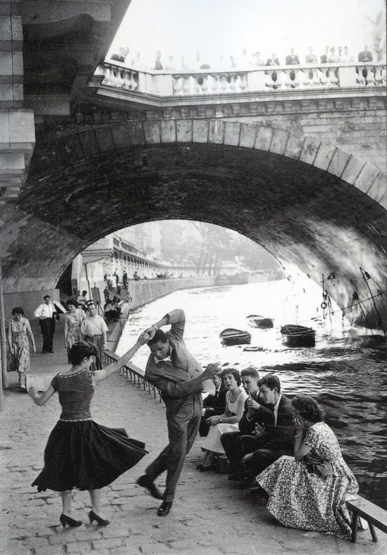 """Check out that footwork"" triponbroknbeats:  Paris 1950"