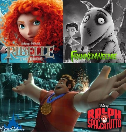 "regno-disney:       #Disney #Pixar #Oscar2013 #AcademyAwards #RalphSpaccatutto #WreckitRalph #RibelleTheBrave #Brave #Frankenweenie #TimBurton These are three Disney movies that have been nominated for an Academy Award for ""Best Animated Feature"". Which one do you root for?  Questi sono i tre film Disney candidati agli Oscar 2013 come ""Miglior Film D'Animazione"". Quale tifate?"