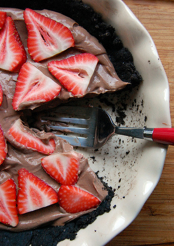 Nutella Pie with Strawberries