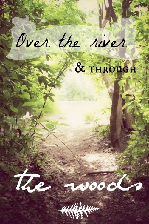 elizakprints:  Over the river, and through the woods. to one act we go