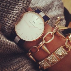 danielwellingtonwatches:  jil-l-s:  #clock#faboulus#fashion#braclet#love  www.danielwellington.com