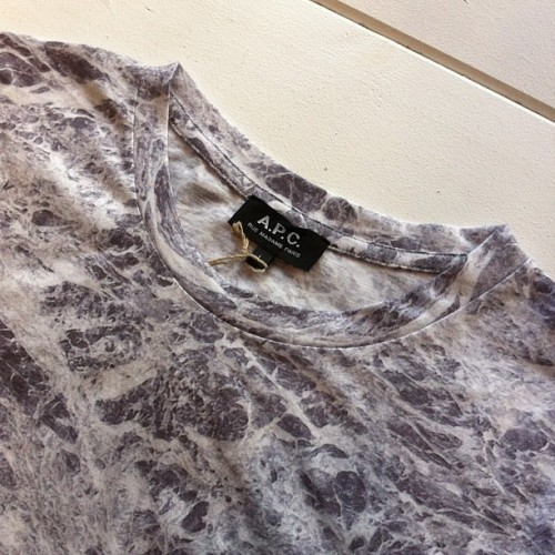 A.P.C. Marbled T-Shirt. #APC #ss13 #menswear (at Four Horsemen Shop)