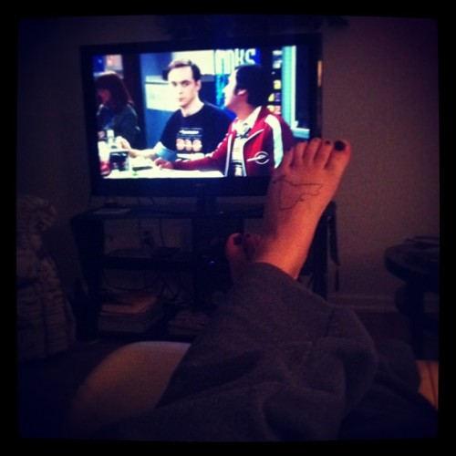 Tattoos and Big Bang Theory. #tattoo #ny #newyork #home #bbt #bigbangtheory #bazinga