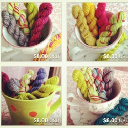 Lots of new mini skein sets in the Etsy shop! http://etsy.com/shop/MrFitzKnits