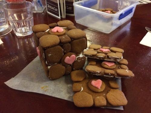Gingerbread companion cubes