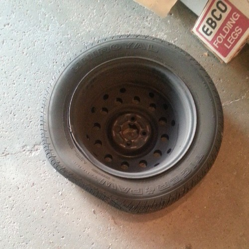 A very sad tire….