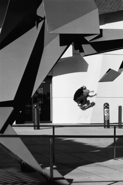 Adrian Adrid, frontside wallride. Los Angeles, CA