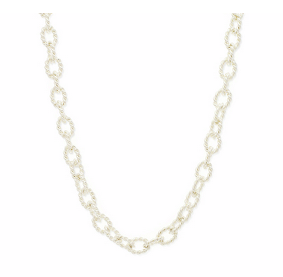 Thick silver toned chain necklace on Lustr, just $60!