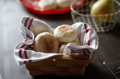 timefliestoday:  Pan-cooked English muffins by babykins. on Flickr.
