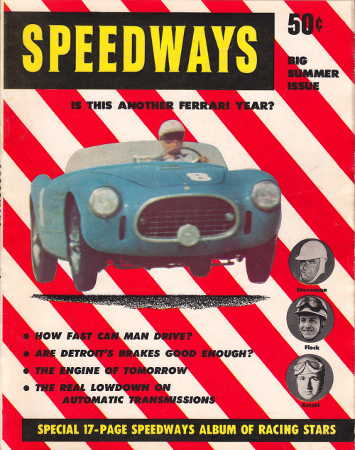 Speedways (by PopKulture)  Premiere issue of Speedways magazine - Summer 1953.