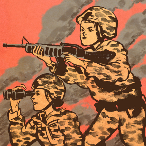illustration for The New Yorker about women in combat  thank you AD Jordan Awan!