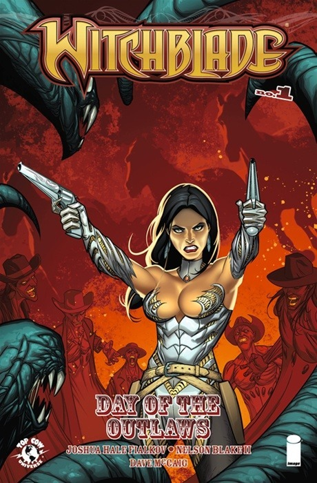 topcowofficial:  Witchblade Day of the Outlaw one shot in stores this week by Joshua Fialkov and Nelson Blake II. Nice self contained one shot. Be a great book for any potential 2013 Talent Hunt people to check out. Preview of that and this weeks other Top Cow books Cyber Force 4 and the Darkness Rebirth Vol. 2 trade here: http://www.topcow.com/moos/43-latest-moos/746-out-04172013-witchblade-day-of-the-outlaws-a-darkness-rebirth-vol-2-preview-now