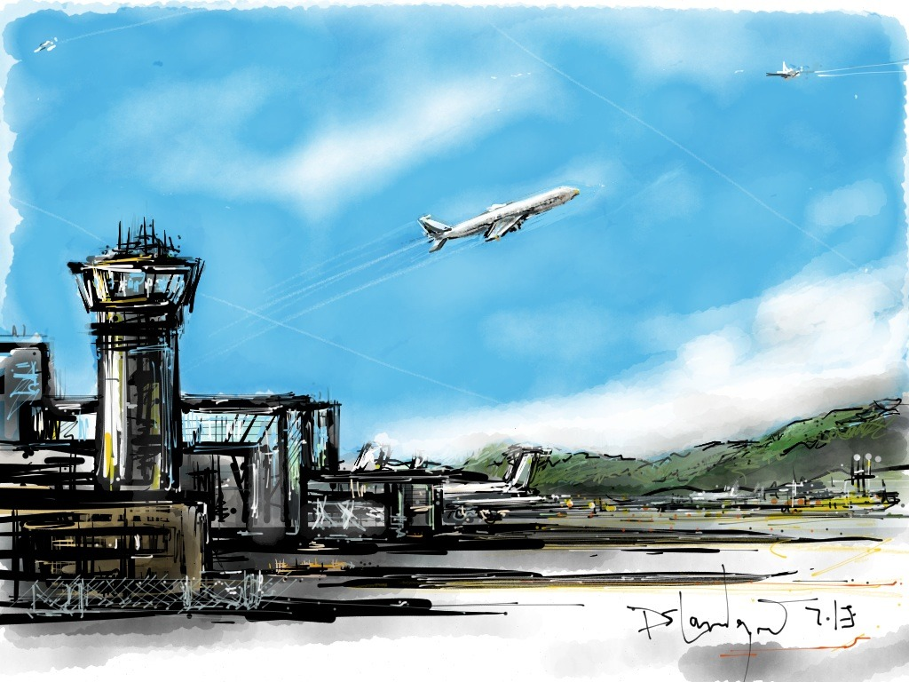 Break from the 30 day challenge. I'm leavin'on a jet plane…safe and sound in California.  Made With Paper
