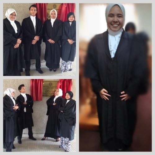 Civil Procedure trial is over (at Ahmad Ibrahim Kulliyyah of Laws (AIKOL))