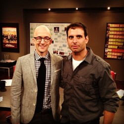This guy is the next great #TalkShow Talent #JimRash an absolute pleasure to work with #OscarWinner #TheDescendants #Community #WritersRoom