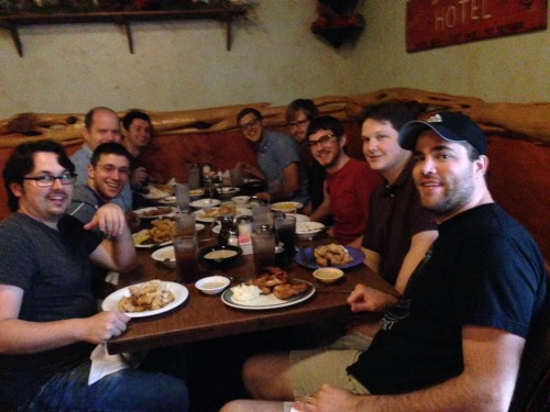 Awesome team lunch with Andrew, Tom, Daniel, Mark, Matthew, Ryan, and Tanner – View on Path.