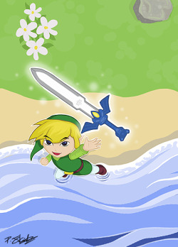 Some Zelda fan art, because Wind Waker HD cannot come soon enough!