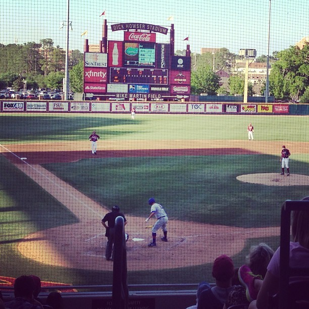 Watching the boys play (at Dick Howser Stadium - Mike Martin Field)