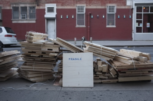 Friday, October 5, 2012 Fragile (no more).  Chelsea, Manhattan, NY.